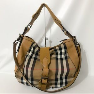 Authentic Burberry Checkered Hobo 2way